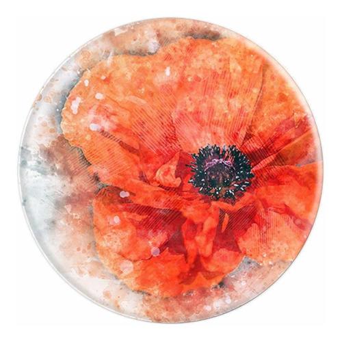 flor roja de acuarela p