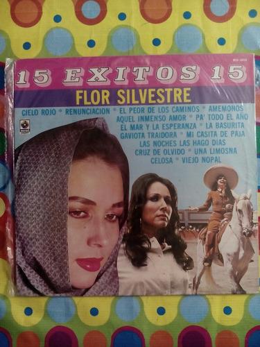 flor silvestre lp  15 éxitos 15  1988