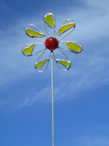 flor tutor adorno maceta vitraux tiffany souvenir