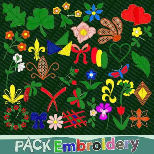 floral adornos vol.2 set 35 matrices maquinas bordadoras