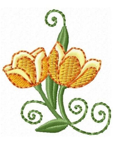 floral esboço 001 - coleção de matriz de bordado