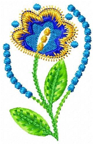 floral libertad 001 - coleção de matriz de bordado