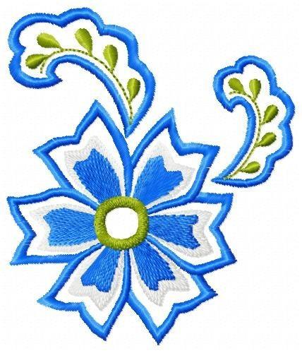 floral monalisa - coleção de matriz de bordado