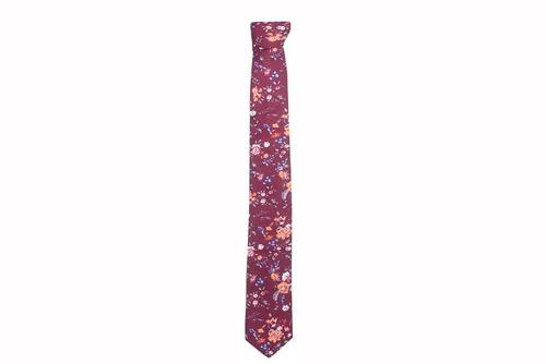 floral wine corbata