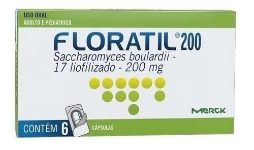 floratil 200mg com 6 cápsulas