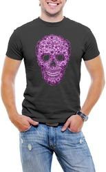 floreado cráneo hombres t - camisa suave algodón corto man