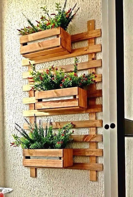 Floreira Parede Em Madeira De Pinus R 80 00 Em Mercado