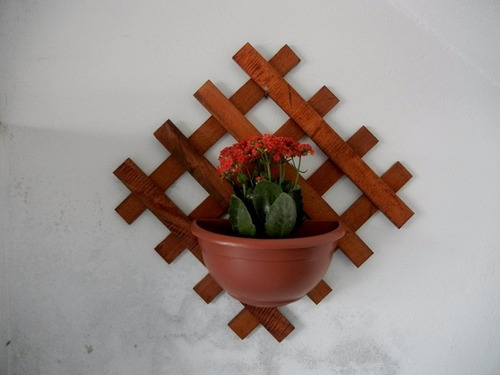 floreira xadrez de 50 x 50 x 19,5cm