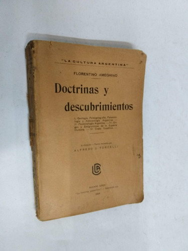 florentino ameghino  doctrinas y descubrimientos - 1923