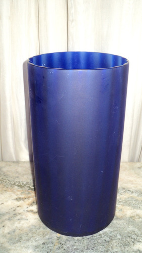 florero azul opaco cristal murano
