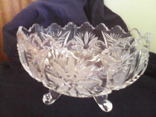 florero bombonera frutero cristal de bohemia tallado