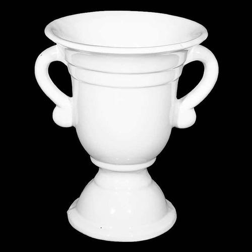 florero centro de mesa copa toledo ceramica