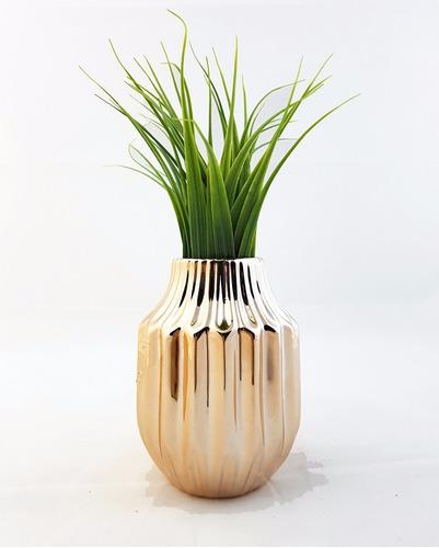 florero ceramica cobreada