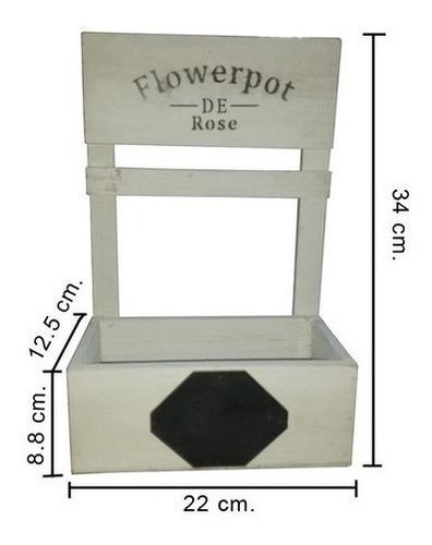 florero colgante artesanal - mediano - madera - decoración