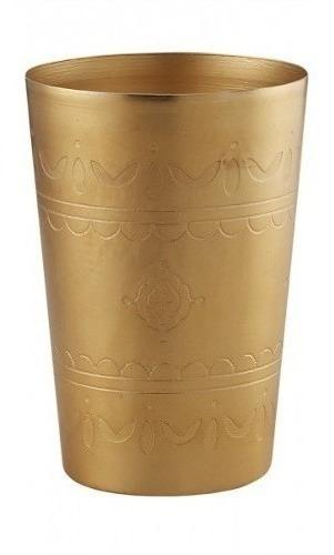 florero conico anjali dorado h14 53365  okko