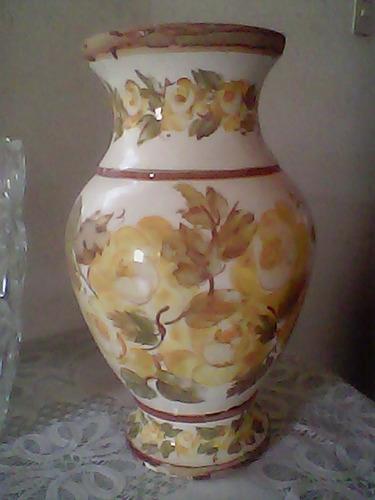 florero de ceramica de flores + bombonera arbolito d vidrio