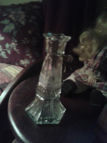 florero de cristal de canada