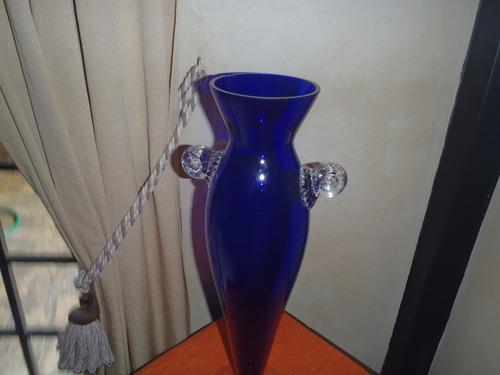 florero de cristal  moderno  45 cmt de alto-10v