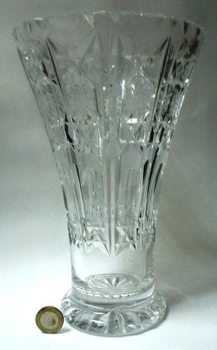 florero de muy fino cristal de bohemia vintage