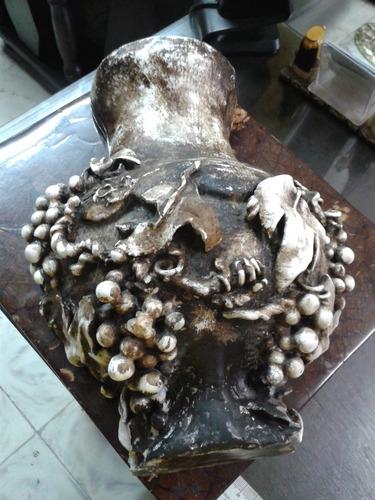 florero de pared mexicano antiguo en porcelana vintage