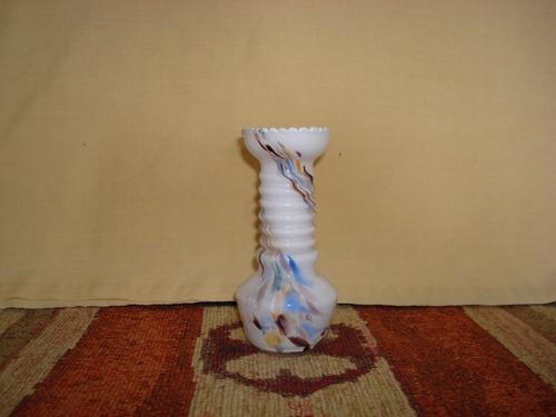 florero de vidrio estampado de 13 cm de altura