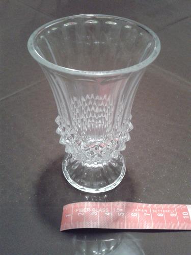 florero de vidrio pequeño 12 cm de alto decorativo