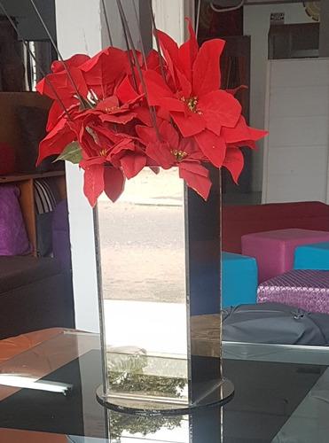florero decorativo  de vidrio espejo