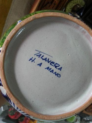 florero en talavera poblana original diseño en alcatraz