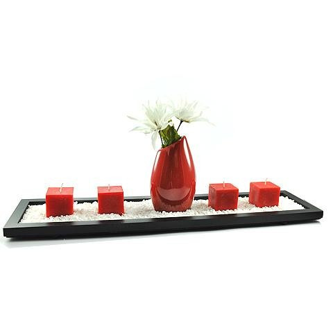 florero gota grande naranja / rojo cerámica decoración hogar