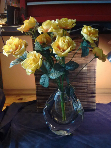 florero jarrón antiguo de cristal murano
