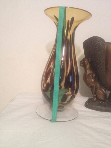 florero jarron decoracion adorno de ceramica y vidrio grande