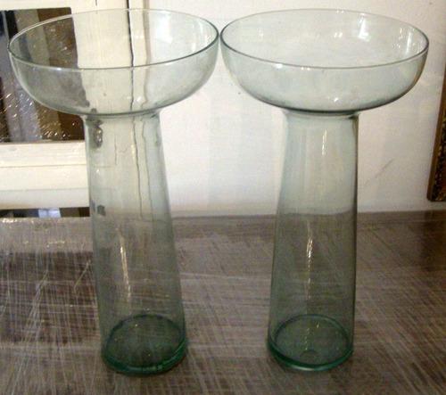 florero  jarrón  en vidrio
