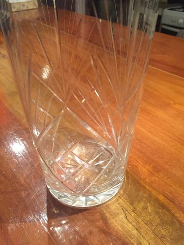 florero o jarra cristal tallado