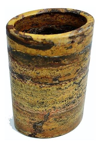 florero vaso de piedra natural veteado