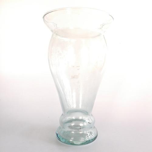florero vidrio europeo trasparente decoración 32 cm