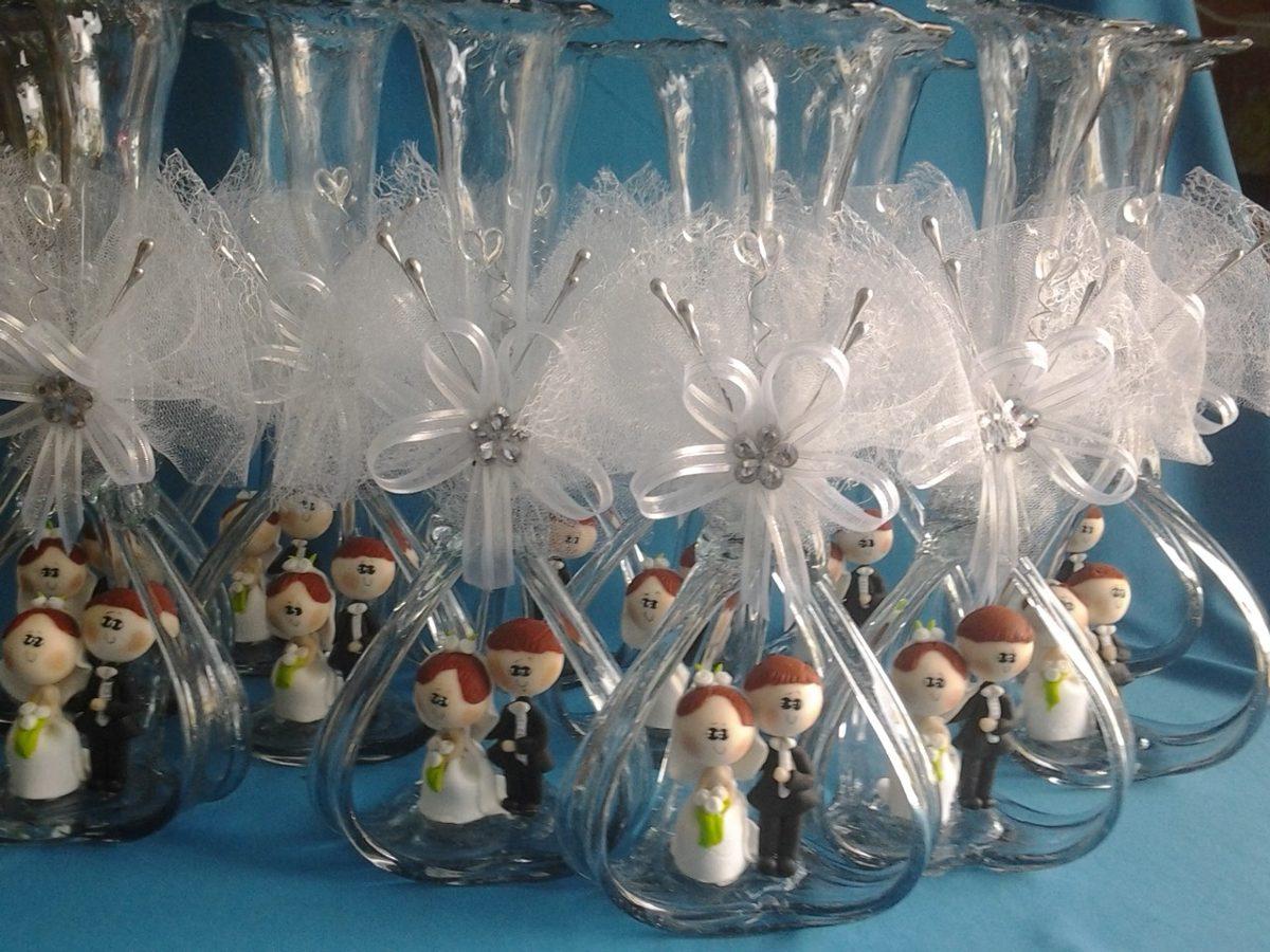 Florero vidrio soplado boda centro de mesa en for Centro de mesa de cristal
