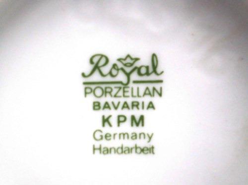 florero violetero adorno kpm porcelana alemana royal bavaria