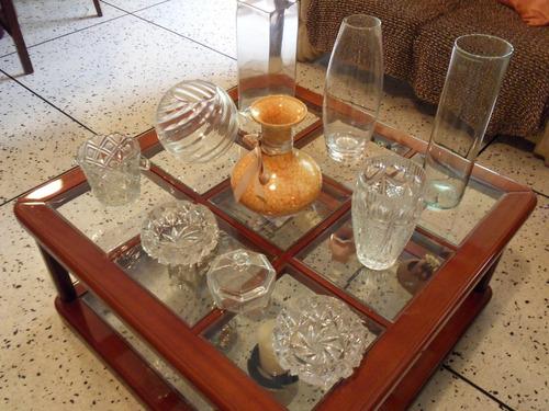 floreros de vidrios, jarrones y adornos de cerámica