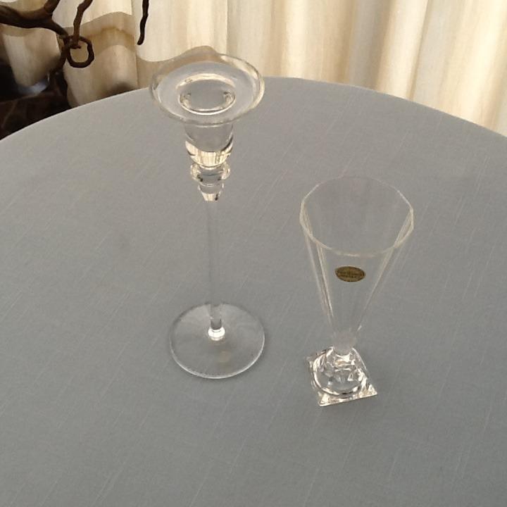 floreros jarrones de cristal de bohemia y cristal d arques - Jarrones De Cristal