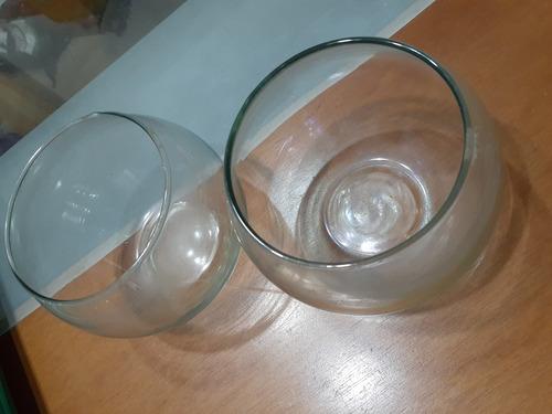 floreros y peceras de vidrio