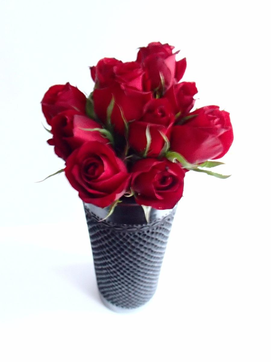 Flores A Domicilio Df Con Florero Artesanal De Barro Negro