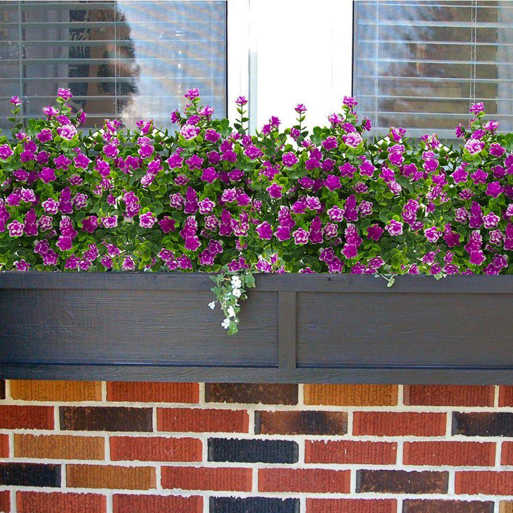 Flores Artificiales Falso Exterior Plantas Resistentes A Lo - Plantas-exterior-resistentes