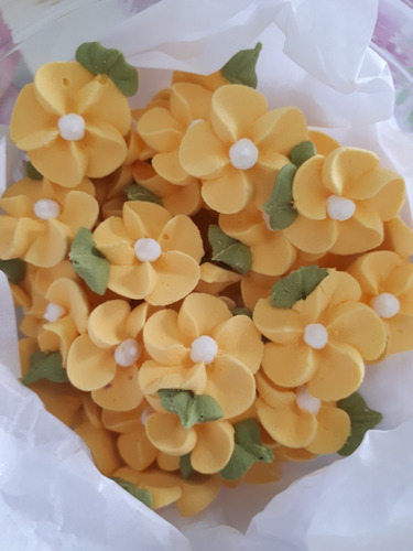 flores de azúcar . kit para recuerdos