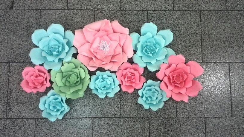 Flores De Cartulina 30cm De Diametro Bs 300 00 En Mercado Libre