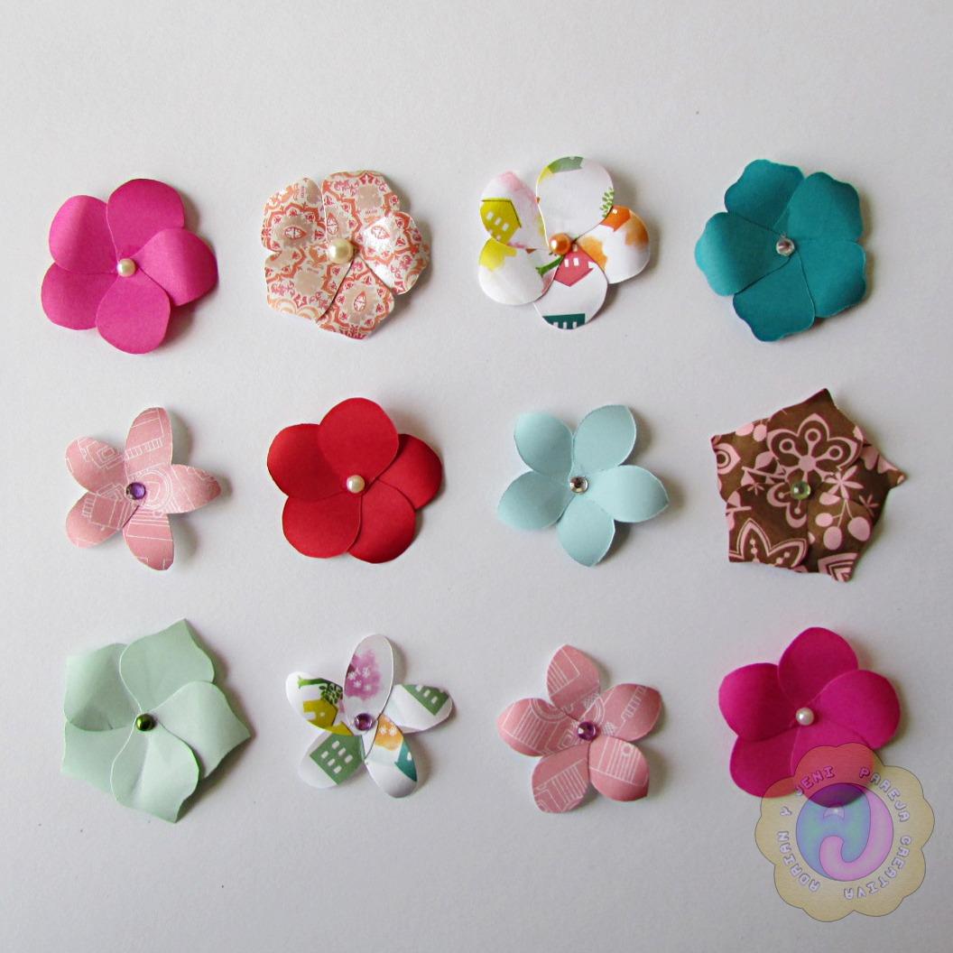 Flores De Cartulina Decoracion Scrapbook Manualidades Bs