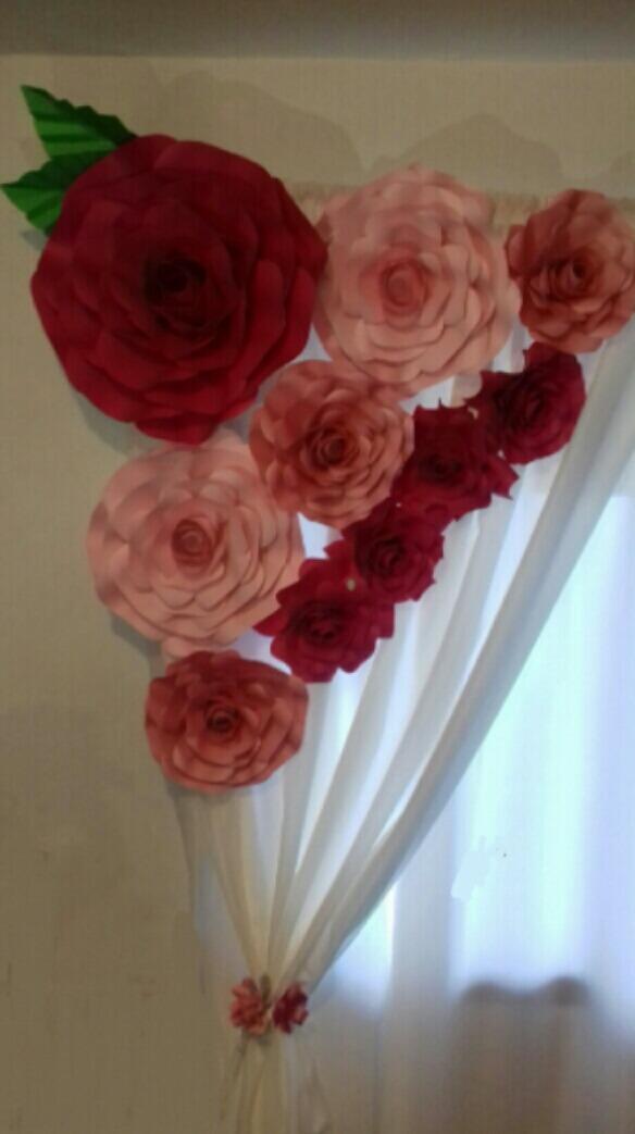 Flores De Cartulina Grandes Y Pequenas Kit De 12 Flores