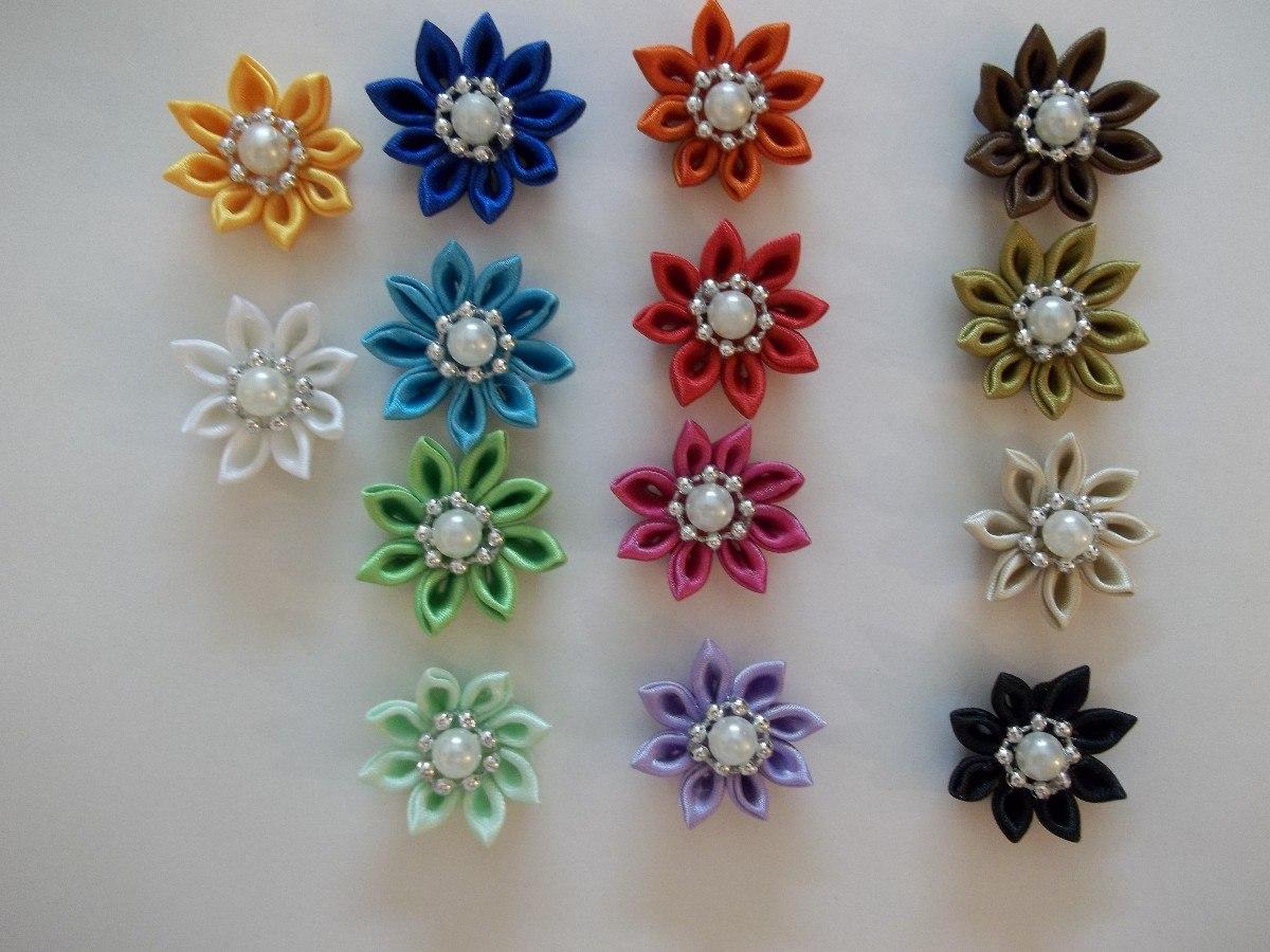 Flores De Cinta Y Tela Para Cintillos Diademas Lazos Y Mas Bs - Como-se-hacen-diademas