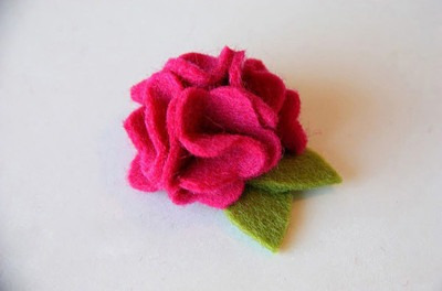 flores de fieltro el precio es x media docena