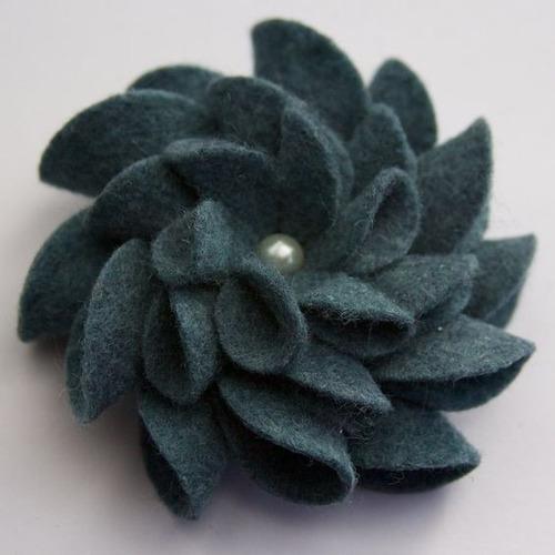 flores de fieltro para manualidades y accesorios de niñas