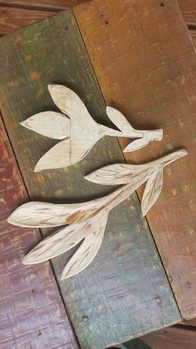flores de madera mbarete artesanías